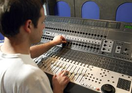 Young Man Running Professional Sound Board